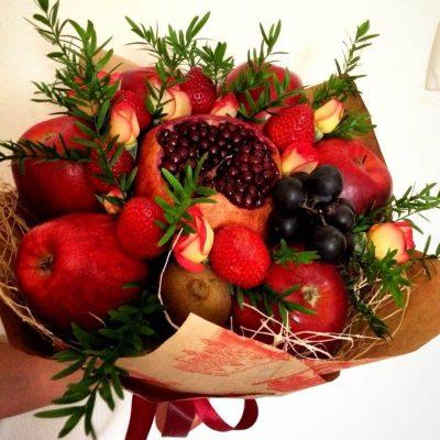 Букет из фруктов, сочи, фруктовый букет, букет из ягод