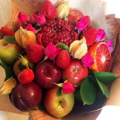 Букет из фруктов, фруктовый букет, букет из ягод, сочи