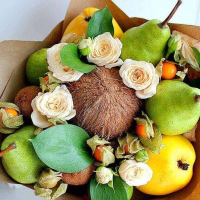 Букет из фруктов, фруктовый букет, букет из фруктов своими руками, купить букет из фруктов, букет из фруктов фото, букет из фруктов сочи